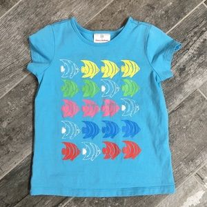 Hanna Andersson 110 (5) girl's fish shirt